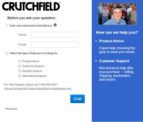 Crutchfield Chat