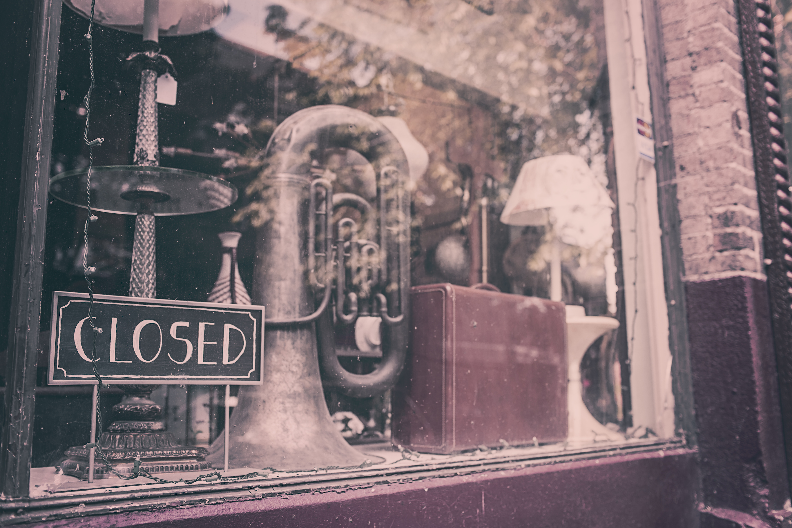 old, dusty store front