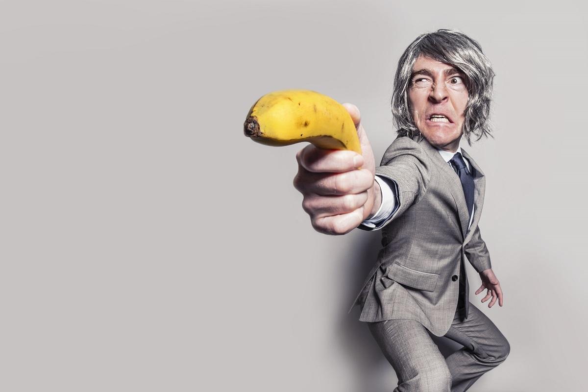 Banana gun via http://gratisography.com/