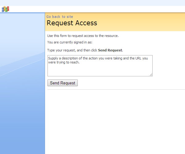 Sharepoint Request Access form